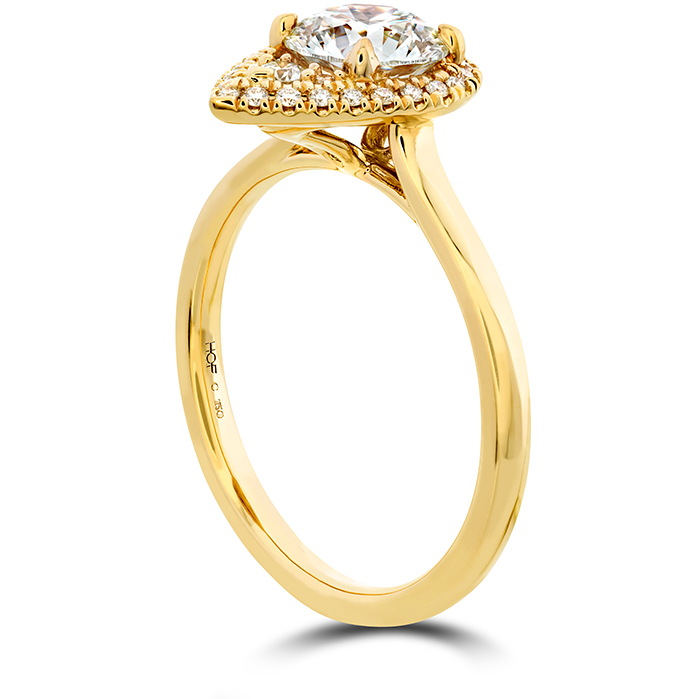 Juliette Pear Halo Engagement Ring