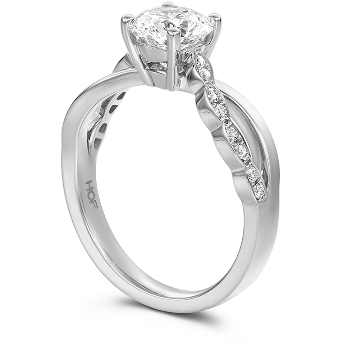 Lorelei Diamond Twist Engagement Ring