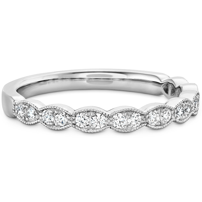 Lorelei Floral Milgrain Diamond Band
