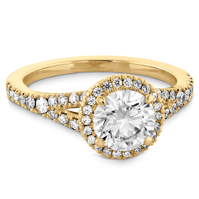 Transcend Premier HOF Halo Split Shank Engagement Ring