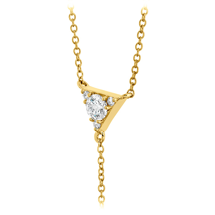 Triplicity Triangle Lariat Necklace